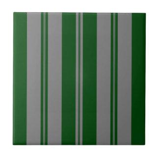 Classic Stripes in Grey & Hunter Green Tile