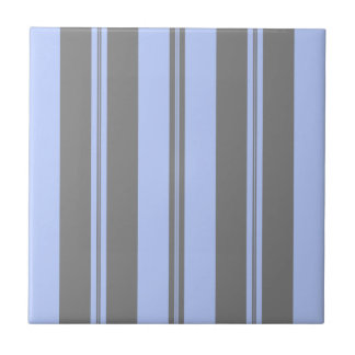 Classic Stripes in Grey & Pale Blue Tile