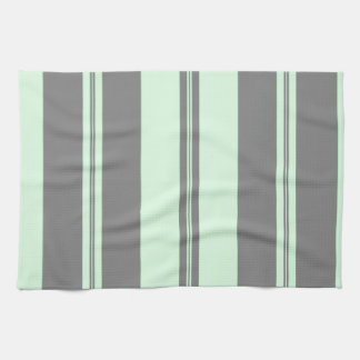 Classic Stripes in Grey & Sea Green Kitchen Towels