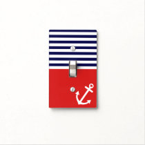 Classic Stripes Nautical Love Light Switch Cover