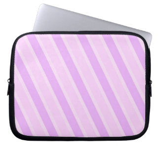 Classic Stripes Pink Candy girly backgrounds Computer Sleeve