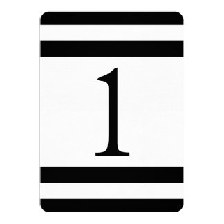 CLASSIC STRIPES WEDDING TABLE NUMBER 5X7 PAPER INVITATION CARD