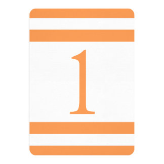 CLASSIC STRIPES WEDDING TABLE NUMBER PERSONALIZED INVITE