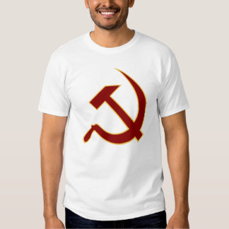 Classic Style Blood Red & Gold Hammer & Sickle Shirt