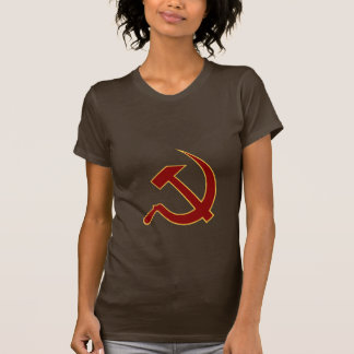 Classic Style Blood Red & Gold Hammer & Sickle T Shirt
