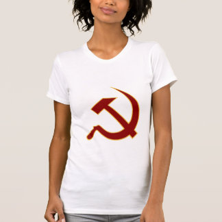 Classic Style Blood Red & Gold Hammer & Sickle T-Shirt
