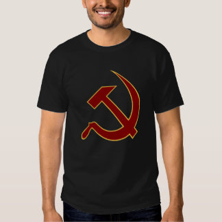 Classic Style Blood Red & Gold Hammer & Sickle Tee Shirt