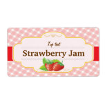 Classic Style Jam Jelly Strawberry Label Shipping Label
