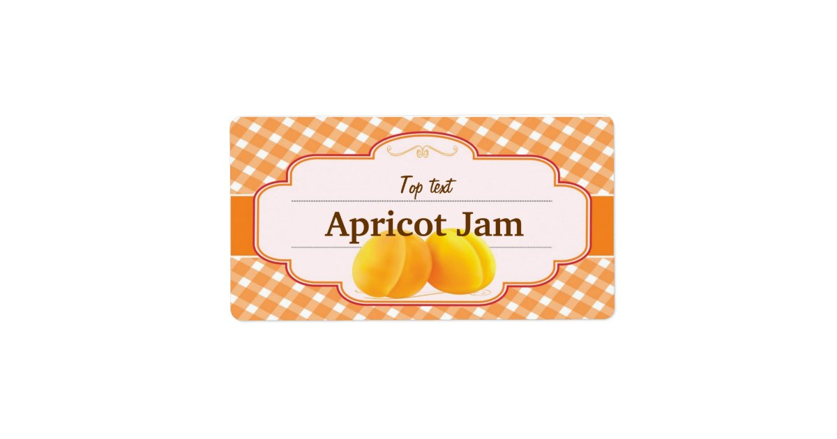Classic Style Jam Jelly Traditional Apricot Jam Label