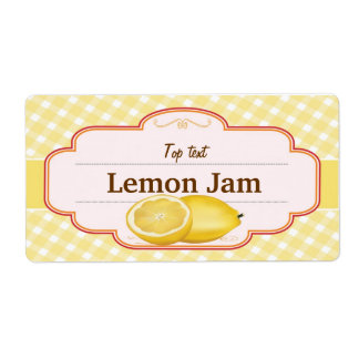 Classic Style Jam Jelly Traditional Lemon Jam Custom Shipping Label