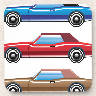 Classic style old vehicle vector clip-art beverage coaster