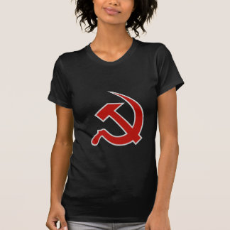 Classic Style Red & Grey Hammer & Sickle on Black Shirt