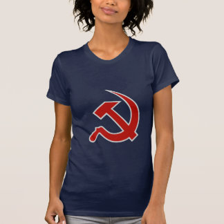 Classic Style Red & Grey Hammer & Sickle on Blue T-shirt