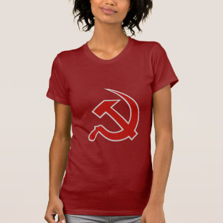 Classic Style Red & Grey Hammer & Sickle on Red T Shirt