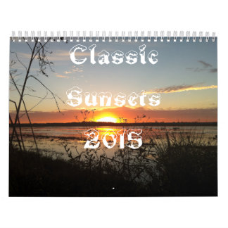 Classic Sunsets Calendar 2015