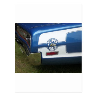Classic Super Bee blue and chrome rear quarter Postcard