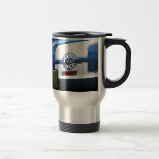 Classic Super Bee blue and chrome rear quarter Travel Mug