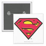 Classic Superman Logo 2 Inch Square Button