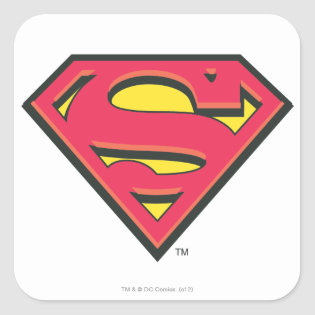 Classic Superman Logo Square Sticker
