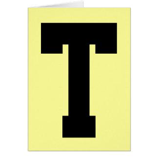 """Classic """"T"""" Card"""