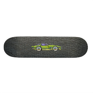 Classic T Top Corvette & Shark Skin Art Skateboard