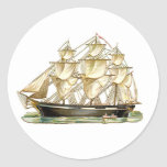 Classic Tall Ship Classic Round Sticker