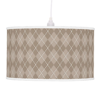 Classic Tan Argyle Ties and Gifts for Men Ceiling Lamp