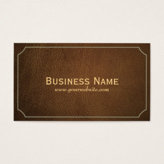 Classic Tan Leather Dispatcher Business Card