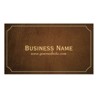 Classic Tan Leather Songwriter Business Card