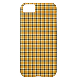 Classic tartan design gold and black case for iPhone 5C