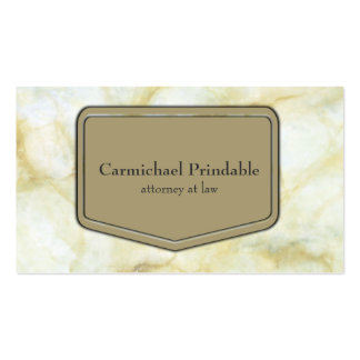Classic Taupe Marble Business Elegance Business Card