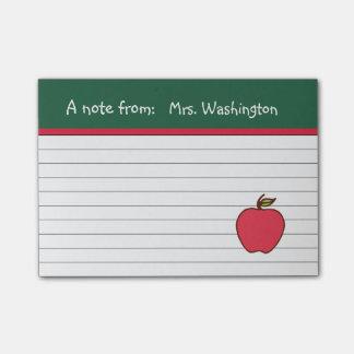 Classic Teacher's Apple Post It Notes Post-it® Notes
