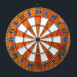 "Classic Teak Veneer Print Nautical Game of Darts Dartboard<br><div class=""desc"">A colorful dart board for yourself or for someone special on your list to enjoy. Here"