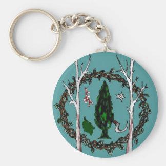 Classic teal design of CLG sigil Keychain