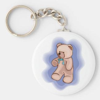 Classic Teddy Bear Basic Round Button Keychain