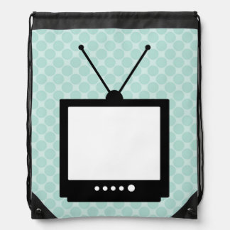 Classic Television Set Drawstring Backpack