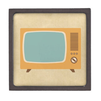 Classic Television Set Gift Box