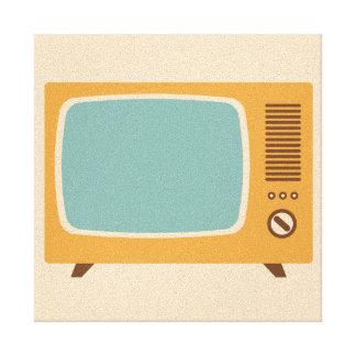 Classic Television Set Graphic Canvas Print