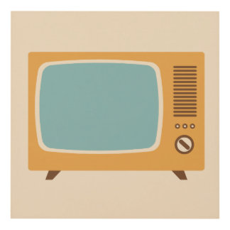 Classic Television Set Graphic Panel Wall Art