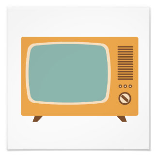 Classic Television Set Graphic Photo Print