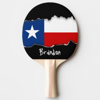 Classic Texas State Flag Ping-Pong Paddle