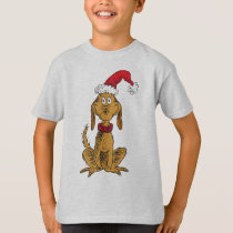 Classic The Grinch | Max - Santa Hat T-Shirt
