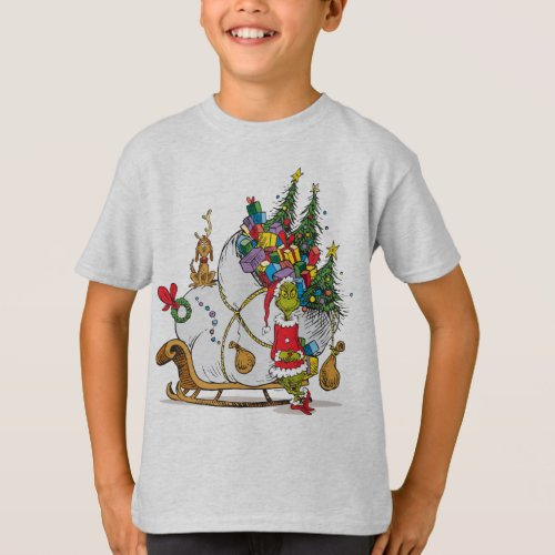 Classic The Grinch  The Grinch  Max Runaway Slei T_Shirt
