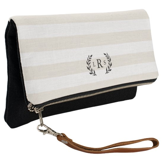 Classic Three Initial Monogram Clutch