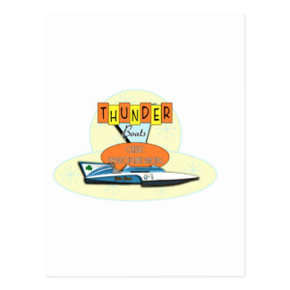 Classic Thunderboats Postcard