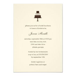 "Classic Tiered Cake Bridal Shower Invitation 5"" X 7"" Invitation Card"
