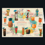 "Classic Tiki Cocktail menu card<br><div class=""desc"">A great choice as an invitation for your next luau!</div>"