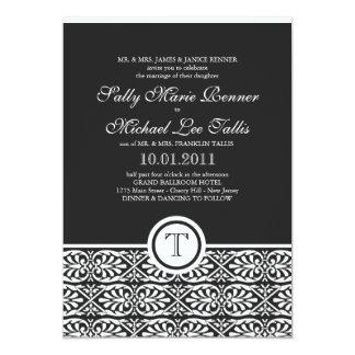 """Classic Tile Pattern Invitation 5"""" X 7"""" Invitation Card"""