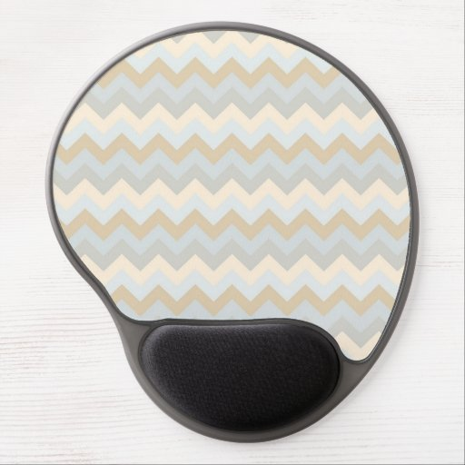 Classic Tones Harmony Chevrons Pattern Gel Mouse Pads