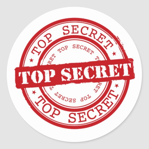 classic top secret seal classic round sticker zazzle